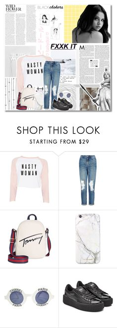 """.:'゚✮In my room there's a king size space / bigger than it used to be"" by sodapoppy ❤ liked on Polyvore featuring New Look, Tommy Hilfiger, russell+hazel, Chanel and Puma"