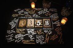 Unique Black Gold and Silver Wedding Guestbook Sign | Wedding Guestbook Ideas | Limelight Photography