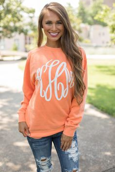 Getting A New Monogram Hoodie Brings Life to Every Closet! - Fall Shirts - Ideas of Fall Shirts - If youre looking for an online boutique where you will find quality ensembles Pink Lily is your one-stop shop for cute styles with a trendy twist. Monogram T Shirts, Monogram Sweatshirt, Vinyl Shirts, Monogram Clothing, Vinyl Monogram, Crewneck Sweater, Fall Shirts, Cute Shirts, Vinyl Designs