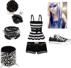 """""""Summer outfit 7 emo"""" by smoothiequeen ❤ liked on Polyvore"""