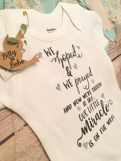 Worth the Wait Onesie®Pregnancy AnnouncementWe Hoped and We Pregnancy Reveal Photos, Pregnancy Announcement Photos, Baby Announcements, Rainbow Baby Announcement, Baby Announcement To Parents, Miracle Baby, Baby Keepsake, Baby Quotes, Baby Time