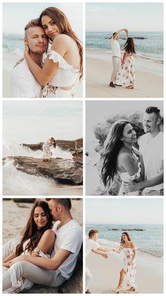 Engagement photography beach engagement photos, engagement photo outfits, e Beach Wedding Photography, Couple Photography, Engagement Photography, Photography Poses, Wedding Beach, Dress Wedding, Photography Lighting, Trendy Wedding, Nature Photography