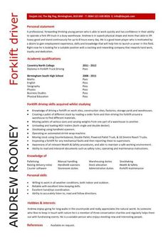 Forklift Resume stunning profile and educations skills for forklift operator resume sample a part of under operator Entry Level Forklift Driver Resume Template