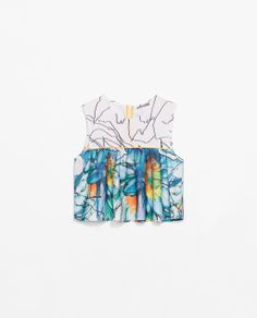 ZARA - WOMAN - CROP FLORAL TOP WITH FRILLS