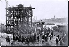 galata köprüsü inşaatı 1912