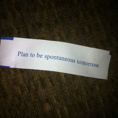 Spontaneous planning??  (^..^)