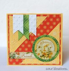 What a gorgeous Bohemian Bazaar card with Core'dinations cardstock by Debbie #Graphic45 #cards #coredinations