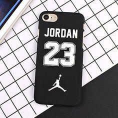 Fashion Slim Matte Cartoon Hard Plastic Jordan 23 Back Cover For iphone 7 Plus 6 6s 8 Plus 5s SE
