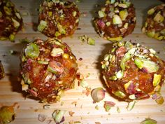Apricot and pistachio truffles