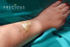 Temporary jewelery tattoo - gold tattoo
