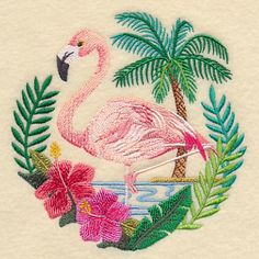 Flamingo Scene design (K9062) from www.Emblibrary.com