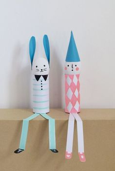 5 Fun Easter Crafts Easter is right around the corner and it's time to start getting crafty! Here are some cute Easter crafts ideas. All of them are cheerful, kid-friendly and. Easter Crafts For Kids, Diy For Kids, Easter Activities, Toilet Paper Roll Crafts, Paper Crafts, Holiday Crafts, Fun Crafts, Easter Garland, Diy Décoration
