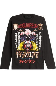 DSQUARED2 Printed Cotton Top. #dsquared2 #cloth #t-shirts