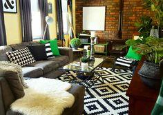 Eclectic Home. Lappljung Ruta Ikea rug.