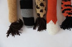 diy knitted animal tails