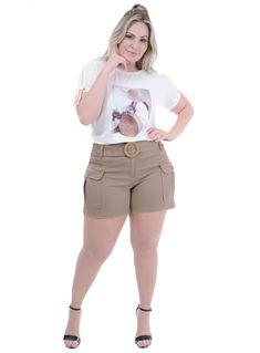 Moda Plus Size, Bermuda Shorts, Short Dresses, Denim Shorts, Outfits, Clothes, Style, Plus Size Clothing, Women Shorts