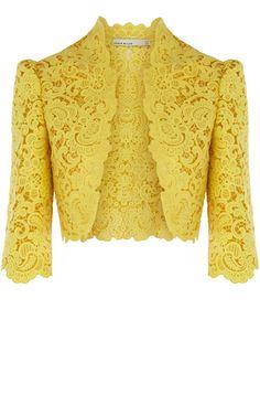 Casaquinha muito elegante  Beautiful Cotton Lace Jacket, Karen Millen
