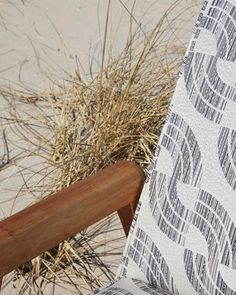 A little detail of our new Sashiko Wave fabric in Charcoal. See the whole #howescollection in our New Arrivals on our site! #rebeccaatwood #RAfabricbytheyard  Photo by @emily__johnston