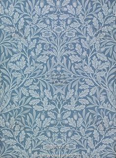 Acorn wallpaper, by William Morris (1834-96). Hand-printed. England, 1879.