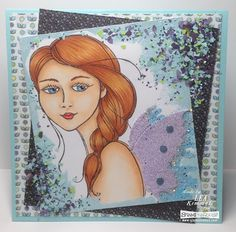 So, how are you enjoying the many faces of Stampendous? For my card today, I've used Beautiful Braid ru. Adult Coloring, Coloring Books, Cool Stencils, Powder Blue Color, Amethyst Color, Beautiful Braids, Butterfly Wings, My Stamp, Paper Background