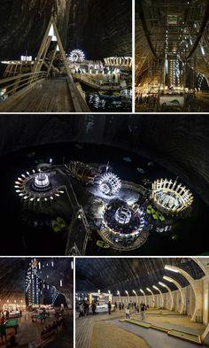 Excitement underground at Turda Salt Mine, in Romania City Breaks Europe, European City Breaks, Brasov Romania, Bucharest Romania, Slow Travel, Budget Travel, Travel Ideas, Travel Tips, Visit Romania