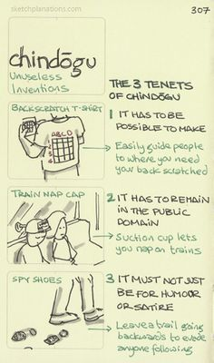 Chindogu. Unuseless inventions. Invented by the Japanese. Definitely not useless :D