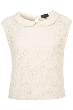 Peterpan Collar Lace Shell Top - Tops - Clothing - Topshop