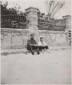 Nicholas & Alexei on the beach at Evpatoria, Crimea, 1916