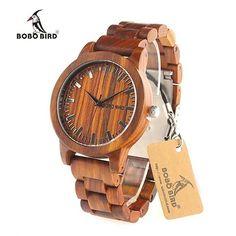 b2a41edf2 BOBO BIRD Red Sandalwood Watch Men's Watch Affordable Cheap Fashion  Products Website