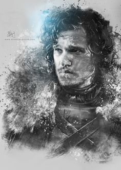 Jon Snow digital fan art by Etiënne Ripzaad