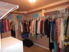 Spare room closet