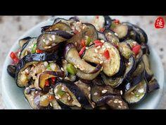 여름[가지볶음무침] 물컹 × 쫄깃쫄깃한 식감을 살렸어요. 가지볶음,가지무침,가지요리 - YouTube Kung Pao Chicken, Korea, Ethnic Recipes, Food, Essen, Meals, Korean, Yemek, Eten