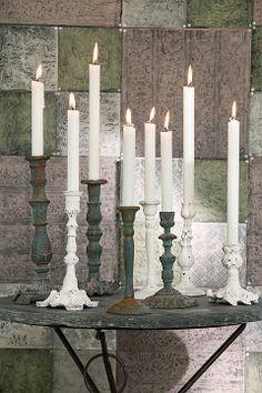 Blanco con el verde oxidado #Affari #candelabros #estilonordico