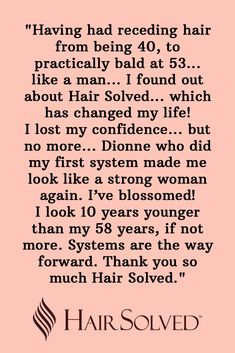 We are sp grateful to our clients for sharing their personal experiences of hair loss and the difference Hair Solved's Enhancer System has made to their confidence and happiness. Visit our Gallery Page to see the transformation our system makes #hairlosssolution #hairlosstreatment #hairfall