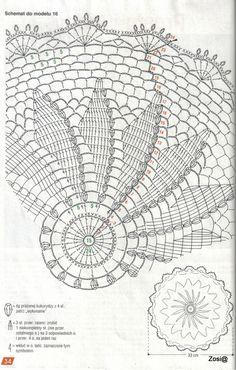 Home Decor Crochet Patterns Part 30 - Beautiful Crochet Patterns and Knitting Patterns Crochet Tablecloth Pattern, Free Crochet Doily Patterns, Crochet Doily Diagram, Crochet Motifs, Crochet Chart, Thread Crochet, Crochet Designs, Crochet Doilies, Crochet Flowers