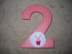 1 chocolate olivia the pig edible decal 3x4 number lollipops lollipop   sapphirechocolates - Edibles on ArtFire