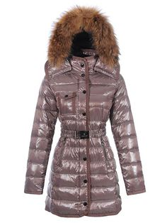 2d836f109549 2013 Moncler Armoise Women Long Down Coat Brown  2899765  - 176.29    Manteau Moncler