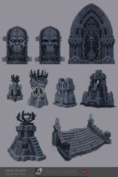 Concept art of Dead Plains Architectural Studies from Darksiders 2 by Jonathan Kirtz
