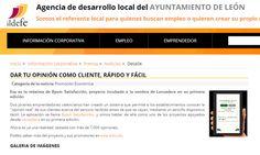 """Dos jóvenes emprendedores valencianos han creado un sistema que permite a los establecimientos conocer la """"opinión real"""" de sus clientes acerca del servicio recibido antes de que se vayan, mediante un sencillo dispositivo táctil.  http://www.ildefe.es/newsSearchAction/informacion_corporativa/Prensa/Noticias/DAR_TU_OPINION_COMO_CLIENTE_RAPIDO_Y_FACIL;jsessionid=F9D224090C701B310E49946ACFC5D694"""