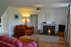 Cosy lounge, Galloway Coast Cottages. SW Scotland