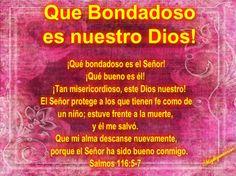 """JESUS PODEROSO GUERRERO: Salmos 116:5-7~~~ """" Que bondadoso es nuestro Dios """""""