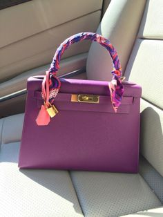 d7115e58ed5e Hermes - Kelly bag and twilly.  luxurybags  Hermeshandbags Hermes Kelly Bag