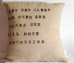 Inspirational Quote Pillow.