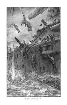 Keith Thompson, illustrations. The YA Trilogy.  Westerfeld's Goliath: suitably thrilling conclusion to cracking steampunk WWI YA trilogy - Boing Boing