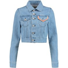 Etre Cecile Embroidered denim jacket ($133) ❤ liked on Polyvore featuring outerwear, jackets, denim jackets, denim, blue, embroidered jacket, jean jacket, blue denim jacket, embroidery jackets and blue jackets