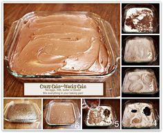 CRAZY CAKE, also known as Wacky Cake & Depression Cake- No Eggs, Milk, Butter,Bowls or Mixers!!! Crazy Moist & Good! Recipe dates back to the Great Depression.