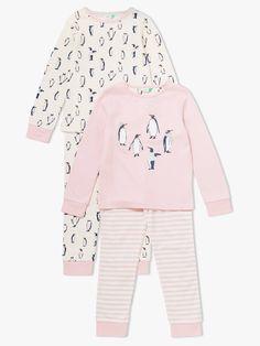 28fdee543d4 BuyJohn Lewis  amp  Partners Girls  Penguin Print Pyjamas