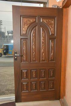 Wooden Front Door Design, Double Door Design, Wooden Front Doors, Main Door Design, Wood Doors, Window Grill Design, Door Design Interior, Double Doors, Prints