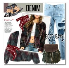 """Distressed Denim"" by svijetlana ❤ liked on Polyvore featuring women's clothing, women, female, woman, misses and juniors"