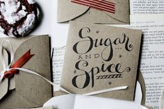 "Ok, I know that this pin is REALLY for a cookie envelope, but how cute would a ""Sugar and Spice"" themed girl baby shower be?!?!?!"